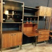 Vintage walnut wall unit