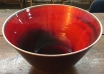 Vivid red Raymor Italy oversized ombré bowl. Extraordinary color. $295