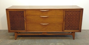 "3-drawer LANE ""Perception"" credenza, 66"" x 19"" x 30""."