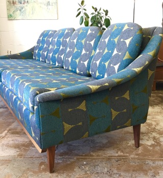 Mid Century Low Sofa