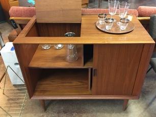Teak Danish Bar Cabinet