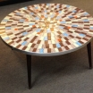 Vintage Mosaic Tile-Top Cocktail Table