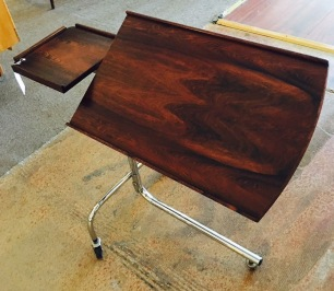 Vintage Danish Rosewood Rolling Table