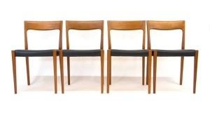 Four Swedish Dining Chairs