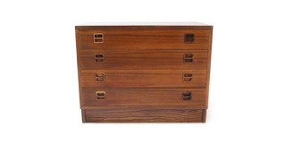Four-Drawer Rosewood Cabinet